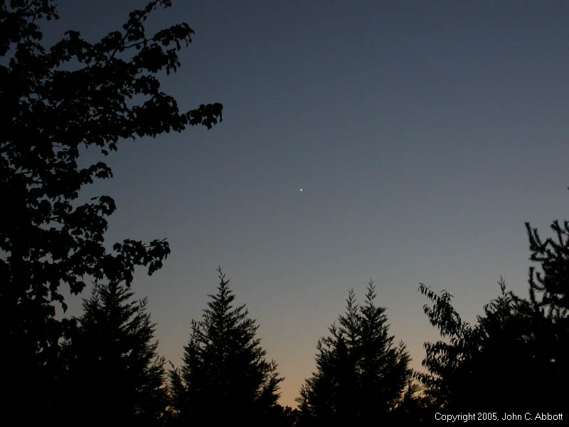 Photograph of Venus taken 9/30/2005
